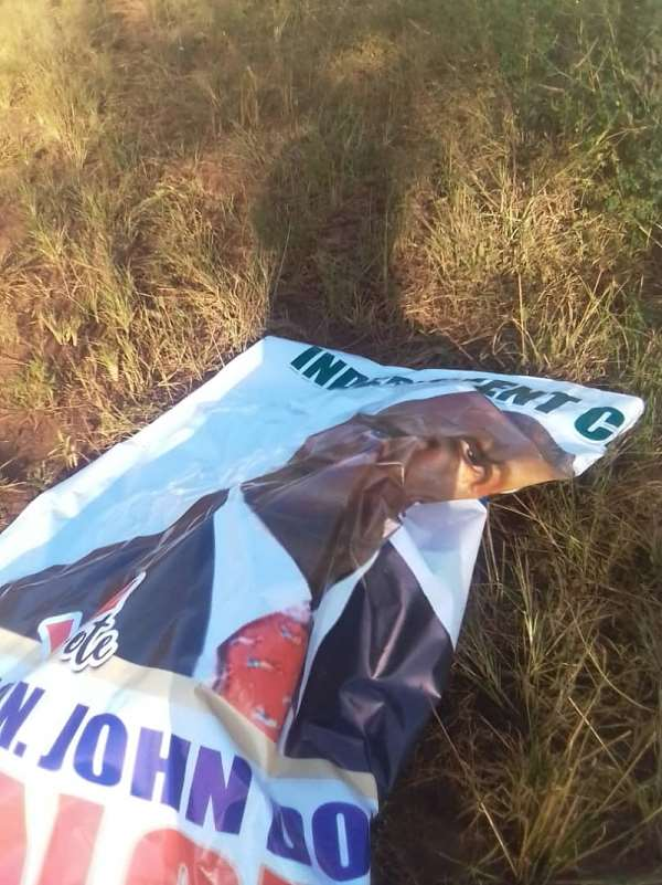 Criminals Destroying Campaign Posters In Lambussie