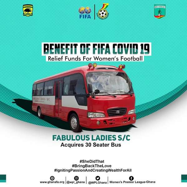 Fabulous Ladies, Norther Ladies Use Part Of FIFA Covid-19 Relief Fund To Buy Team bus