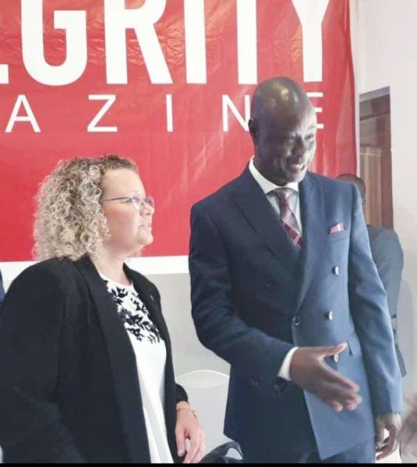 Alhaji Alhassan Yakubu Tali with the Ambassador of Isreal to Ghana
