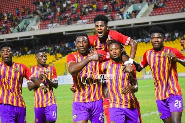 Kofi Kordzi and Joseph Esso celebrate