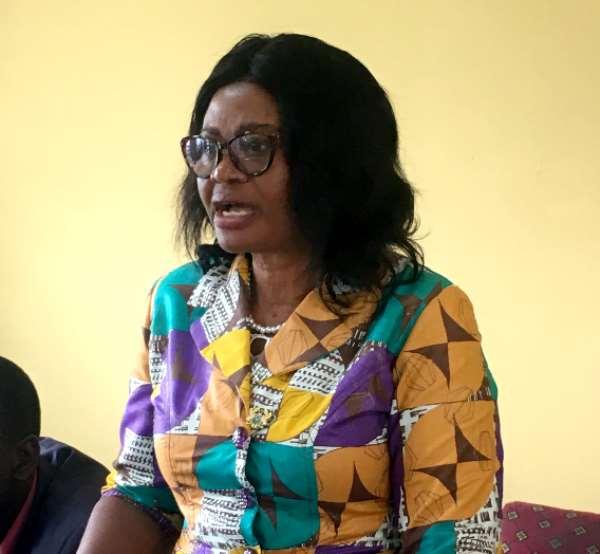 Mrs. Victoria Adu addressing the participants