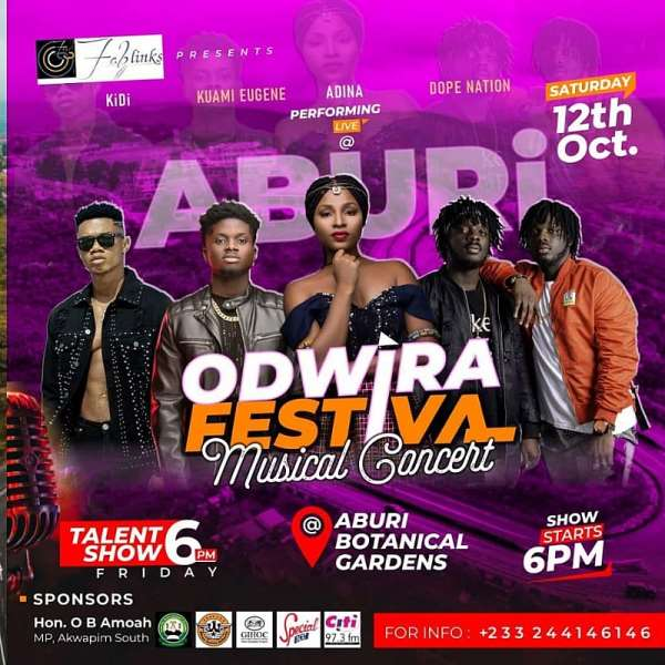 2019 Odwira To Climax With Concert At Aburi Botanical Gardens
