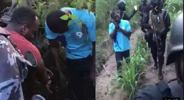 WATCH: Volta Secessionist Member Leads Police To Retrieve Stolen Guns