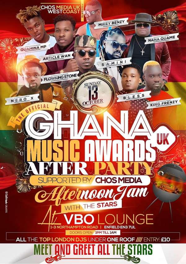 Ghana Music Awards UK After Party Is On Oct 13