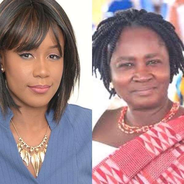 Lawyer Amanda Clinton [Left], Prof. Jane Naana Opoku Agyemang [Right]