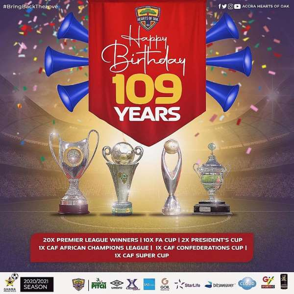 GPL Giants Hearts Of Oak Marks 109th Anniversary Today
