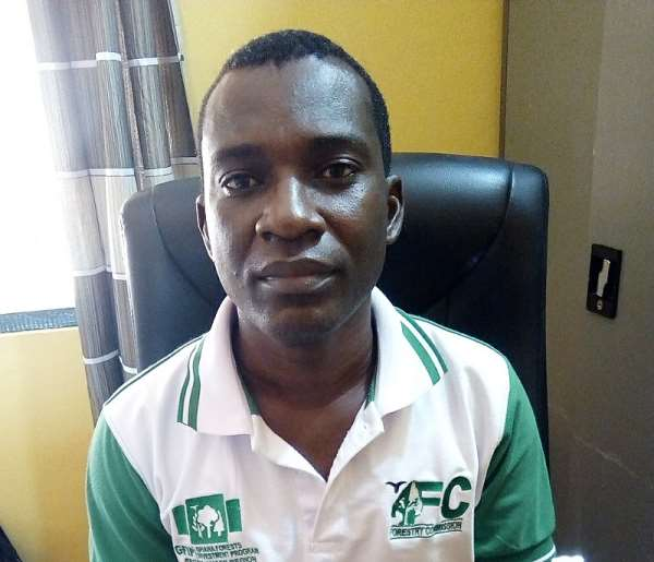 Mr. Godwin Agyemang, the Mankranso District Forest Manager