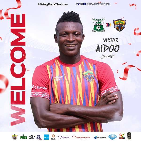 Hearts Of Oak Announce Signing Of Striker Victor Aidoo