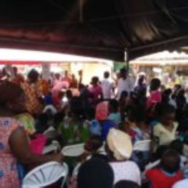 Suhum residents screened for eye problems