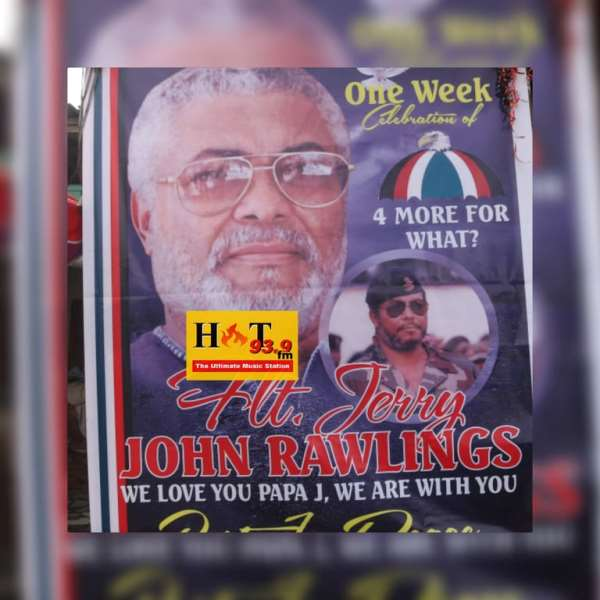 [Video] NDC Supporters Defy Rawlings' Family's Order, Organise One-week Observation