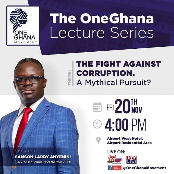 OneGhana Movement Holds Maiden Lecture Series On November 20