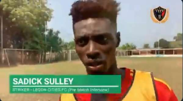 Legon Cities FC striker Sadick Sule