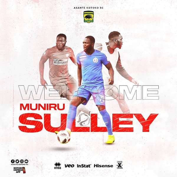Kotoko Sign Midfielder Sulley Muniru On A 2-Year Deal