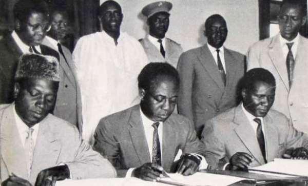 Modibo Keita of Mali, Kwame Nkrumah of Ghana and Sékou Touré of Guinea