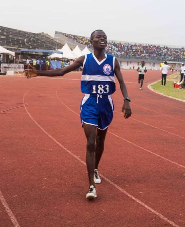 GUSA GAMES: UEW's William Amponsah Wins 2nd Gold
