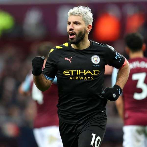PL: Augero Hits Hat-Trick As Man City Thrash Aston Villa