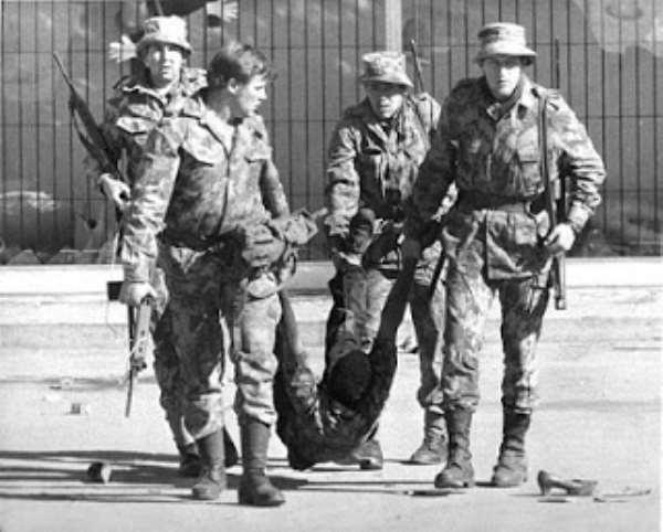 White brutality against blacks in the Apartheid era