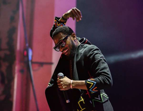 Nigerian pop star D'banj performing on stage in London.  - Source: Robin Little/Redferns/Getty