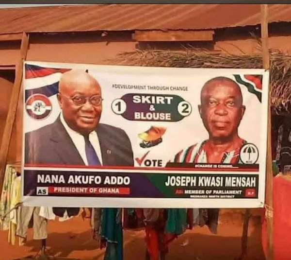 Nkoranza North: Hon. Derrick Oduro In Trouble As Angry NPP Youth Vowed To Vote 'Skirt And Blouse'