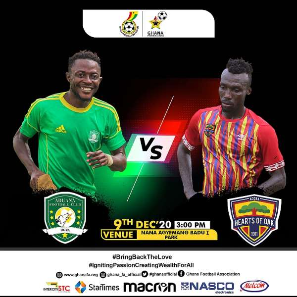 GFA Announce Date For Aduana Stars v Hearts Of Oak Outstanding Match