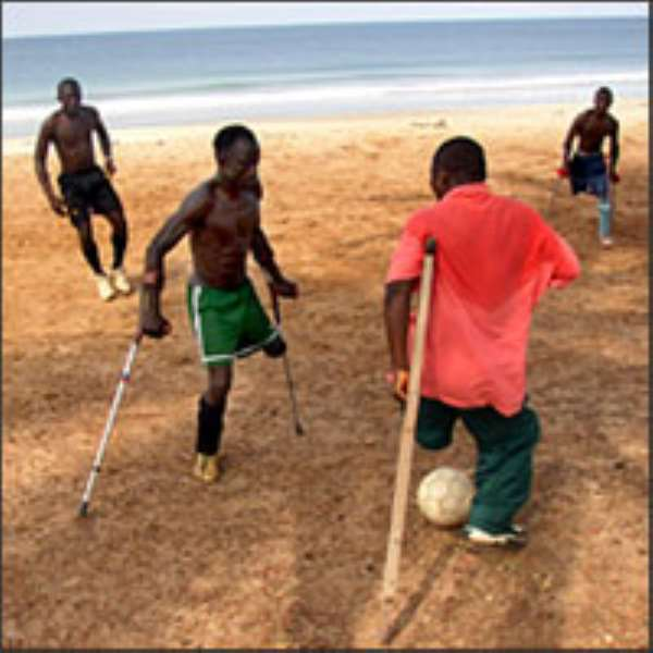 In Liberia, Amputees Find Healing Place: Soccer Field