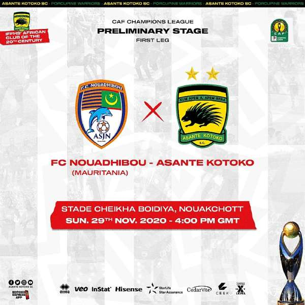 CAF CL: Kotoko Announce New Date, Kickoff Time For Tie Against FC Nouadhibou