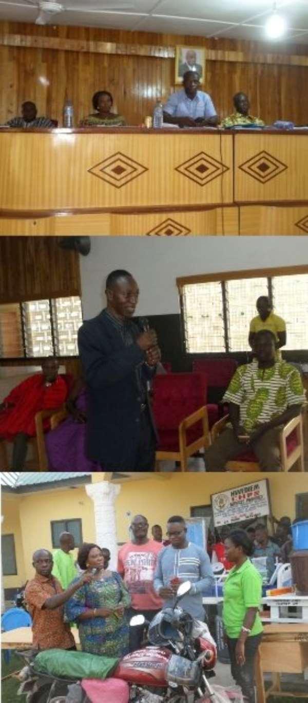 Nkoranza: NADMO Tackles Bushfires With Anti-Bushfire Taskfoce