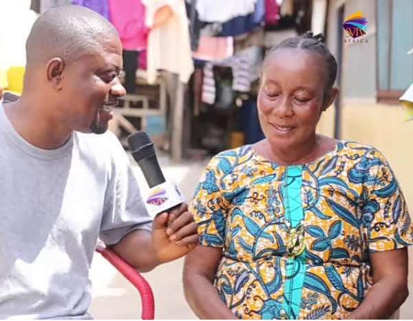 Popular Ghanaian Actress Now Blind Receives 4,050gh Through SVTV Africa Foundation