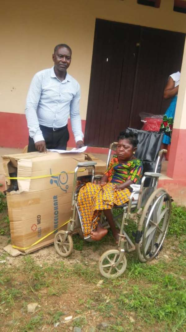 Akatsi South municipal assembly support persons with disability