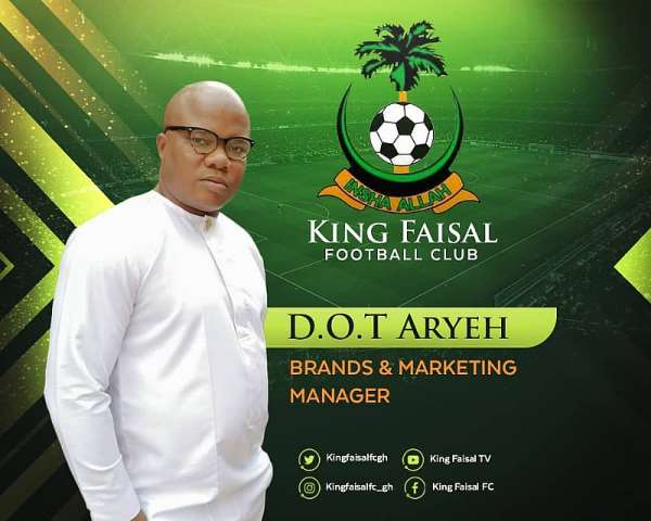 King Faisal Appoint Daniel Odoi Aryeh As Brand And Marketing Manager