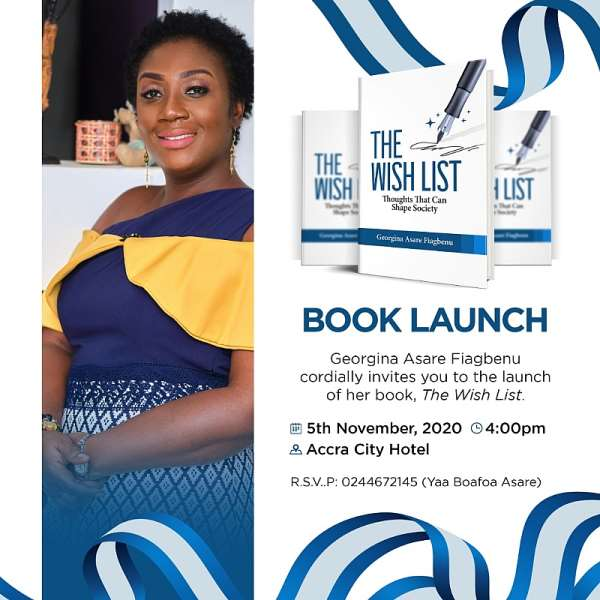 Georgina Fiagbenu's 'WISH LIST' Book To Be Launched On November 5