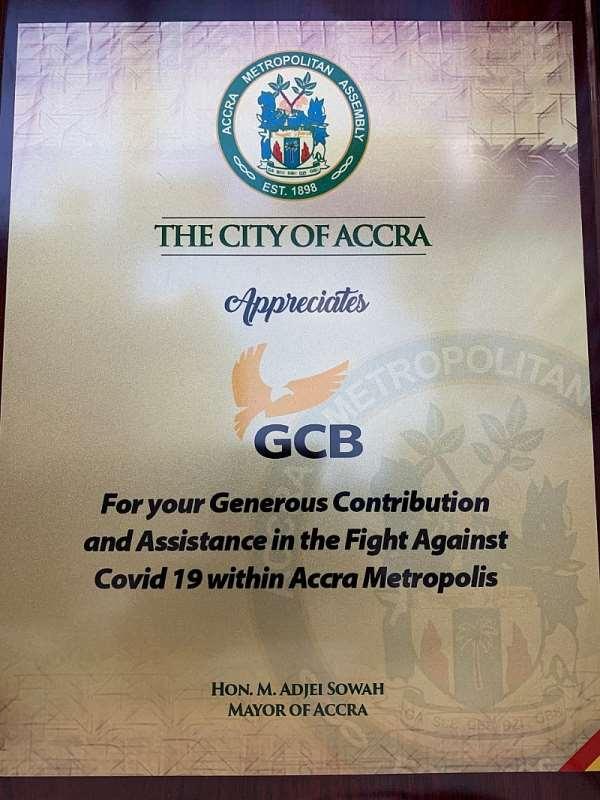 AMA rewards GCB Bank for critical role in COVID-19 fight