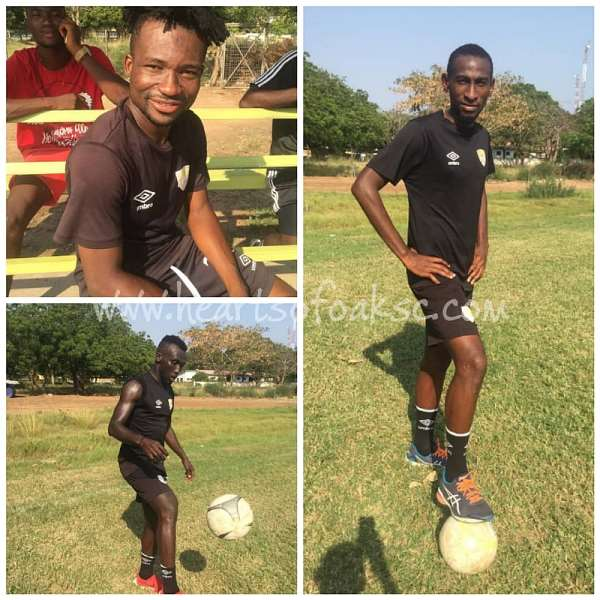 Emmanuel Nettey, two other Hearts of Oak players resume training ahead of Eleven Wonders match