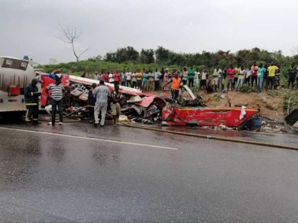 34 Dead, More Injured In Cape Coast-Takoradi Highway Car Crash