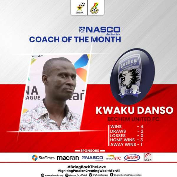 I'm motivated to work harder after winning coach of the month award – Coach Kwaku Danso