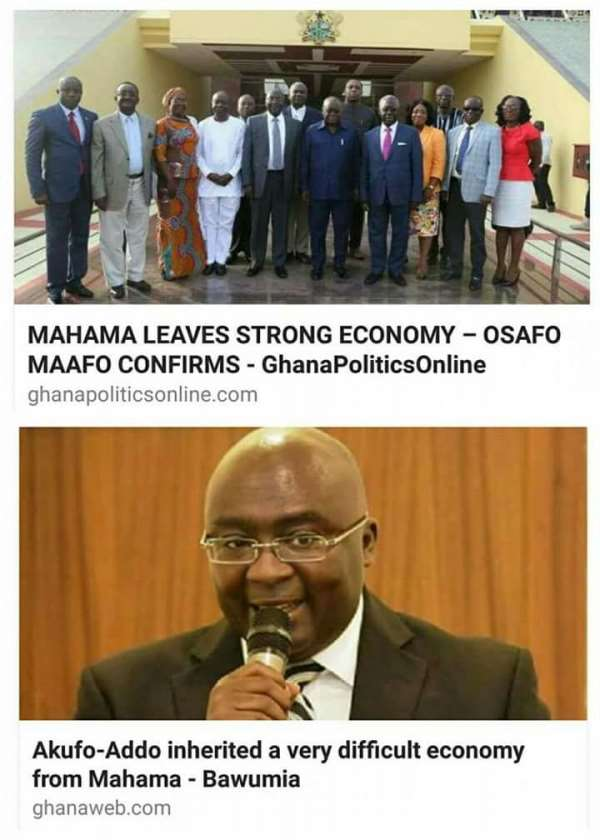 Confusion In The NPP Government: Check The Inconsistency Of This Led NPP Government, Who Is Lying About The Economy?  Dr. Bawumia Or Osafo Marfo?
