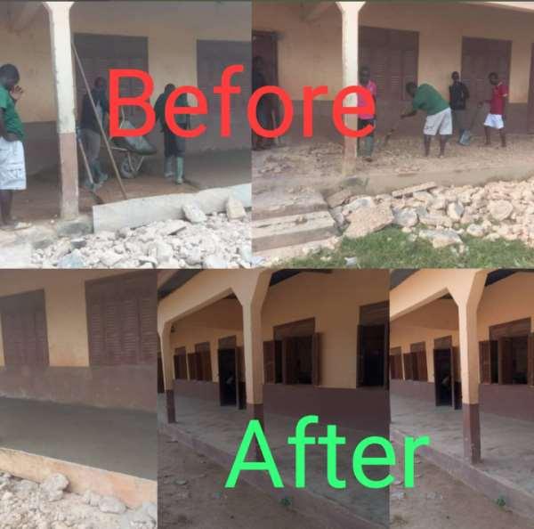 A/R: Francis Owusu-Akyaw Renovates M/A Primary School In Bomfa