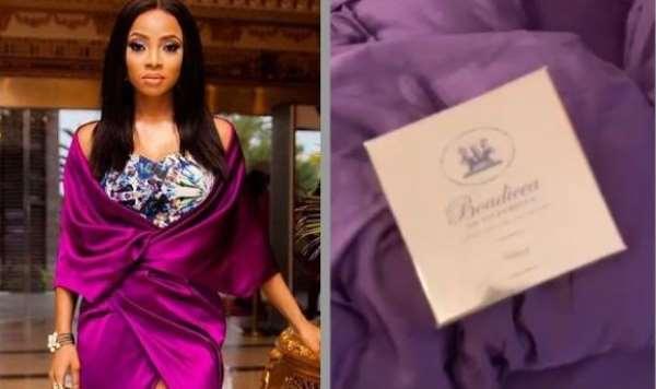 Toke Makinwa Gets Expensive Perfume from Secret Admirer