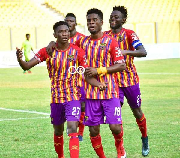 GHPL: Hearts of Oak defeat Eleven Wonders 2-0 to move to fourth