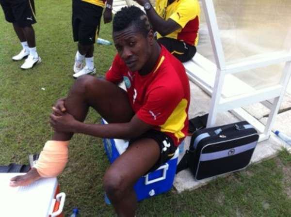 Asamoah Gyan To Undergo MRI Scan On Thursday