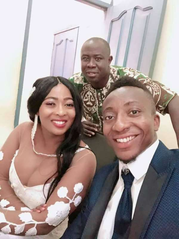 PICTURES: Kotoko Goalkeeper Felix Annan Weds Francisca Adu