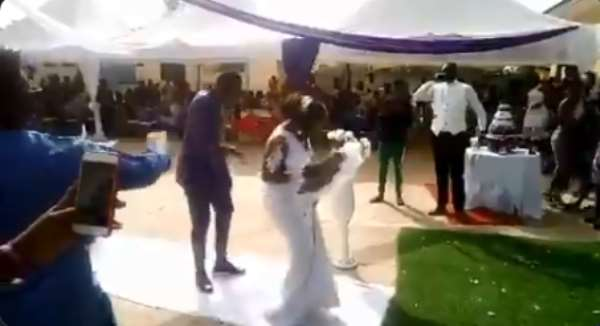 VIDEO: Felix Annan Shows Off Dance Moves With Wife At Wedding