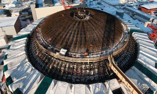 Nuclear power plant under construction