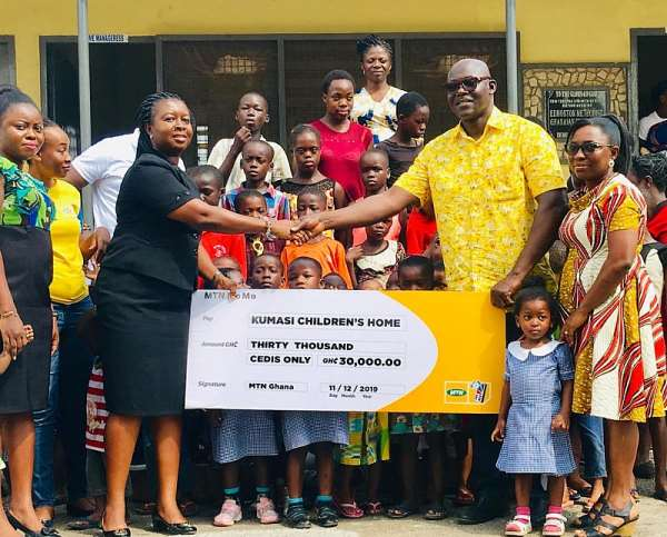 MTN Gives To Kumasi Children's Home