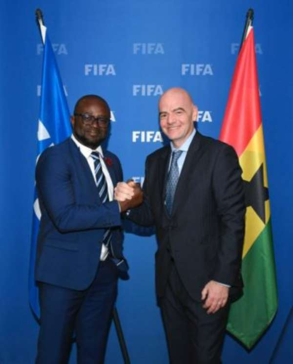 Ghana FA Boss Holds Successful Talk With FIFA President Gianni Infantino