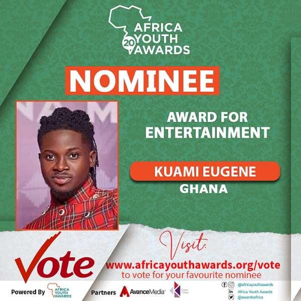 Kuami Eugene, Kwadwo Sheldon, JoeBoy among 129 Young Africans nominated for 2020 Africa Youth Awards