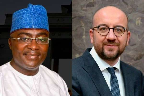 Vice-President Mahamudu Bawumia and the outgoing Belgium Prime Minister, Charles Michel