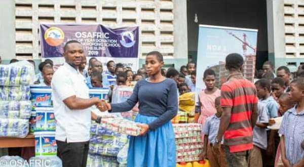 Osafric donates to Akropong School For The Blind