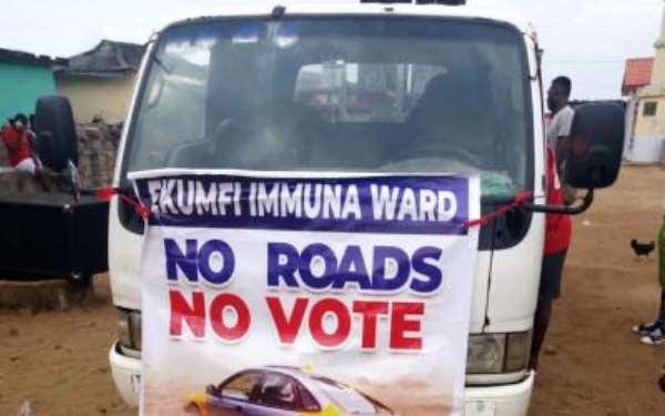 Ekumfi Immuna: Residents Boycott District Assembly Elections Over Poor Roads