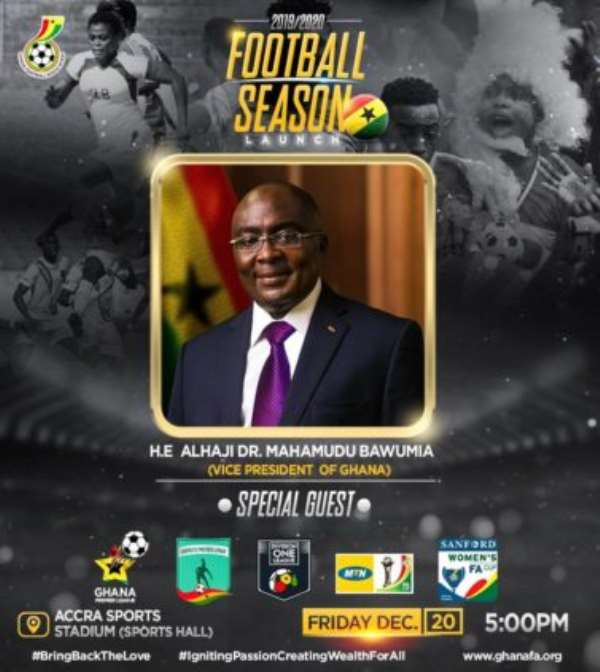 Vice President Dr Bawumia To Grace Launch Of 2019/2020 GPL Football Season